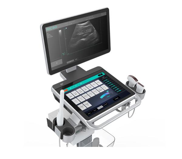 Black & White Ultrasound Trolley Kylin K3